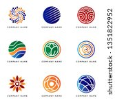 set of business logo template... | Shutterstock .eps vector #1351822952