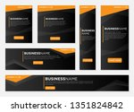 set of banners pack design with ... | Shutterstock .eps vector #1351824842