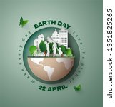 world environment and earth... | Shutterstock .eps vector #1351825265