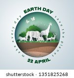 world environment and earth... | Shutterstock .eps vector #1351825268