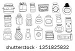 hand draw vector set of... | Shutterstock .eps vector #1351825832
