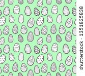 hand drawn doodle style easter... | Shutterstock .eps vector #1351825838