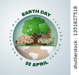 world environment and earth... | Shutterstock .eps vector #1351827518