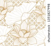 seamless pattern with a natural ... | Shutterstock .eps vector #1351827998