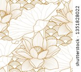 seamless pattern with a natural ... | Shutterstock .eps vector #1351828022