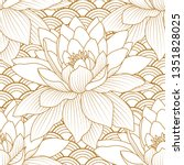 seamless pattern with a natural ... | Shutterstock .eps vector #1351828025