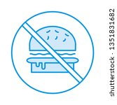 not allowed   fast food   stop   | Shutterstock .eps vector #1351831682
