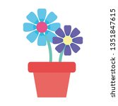 house plant pot isolated icon | Shutterstock .eps vector #1351847615