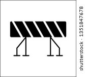 construction barrier icon ... | Shutterstock .eps vector #1351847678