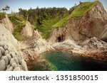 cape stolbchaty  geographic... | Shutterstock . vector #1351850015