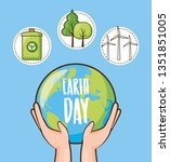 earth day card | Shutterstock .eps vector #1351851005