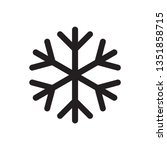snowflake icon. snow in the ... | Shutterstock .eps vector #1351858715