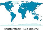 relief map of the world   each... | Shutterstock . vector #135186392