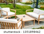Outdoor Patio With Wooden...