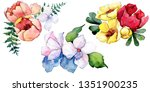 bouquets floral botanical... | Shutterstock . vector #1351900235