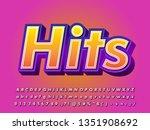 strong bold 3d font effect ... | Shutterstock .eps vector #1351908692