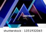 tech futuristic geometric 3d... | Shutterstock .eps vector #1351932065