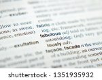 the explanation of the word... | Shutterstock . vector #1351935932