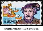 spain   circa 1987  stamp... | Shutterstock . vector #135193946