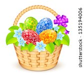 Vector Easter Bucket With...