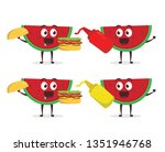 kawaii vector illustration... | Shutterstock .eps vector #1351946768