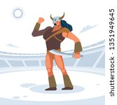 giant warrior in the gladiator... | Shutterstock .eps vector #1351949645