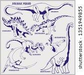 Dinosaurs Of Jurassic Period...