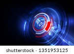 abstract futuristic technology... | Shutterstock .eps vector #1351953125