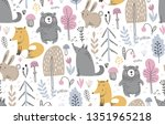 vector seamless pattern with... | Shutterstock .eps vector #1351965218