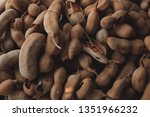 top view of pile of ripe... | Shutterstock . vector #1351966232