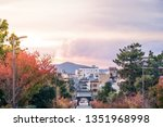 view of kyoto city  japan at... | Shutterstock . vector #1351968998