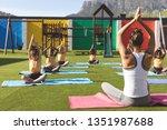 front view of caucasian trainer ... | Shutterstock . vector #1351987688