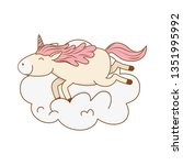 cute fairytale unicorn relax in ... | Shutterstock .eps vector #1351995992