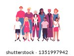 diverse women group of moms and ... | Shutterstock .eps vector #1351997942