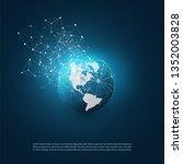 dark blue modern minimal style... | Shutterstock .eps vector #1352003828