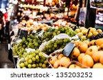 fruits stand in la boqueria... | Shutterstock . vector #135203252