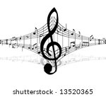 music background with different ... | Shutterstock .eps vector #13520365