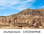 high rocky mountains in the... | Shutterstock . vector #1352064968