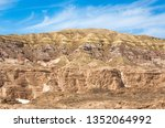 high rocky mountains in the... | Shutterstock . vector #1352064992