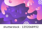 abstract fluid shapes in... | Shutterstock .eps vector #1352068952
