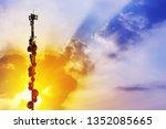 telecommunication tower antenna ...   Shutterstock . vector #1352085665