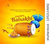 indian festival celebration... | Shutterstock .eps vector #1352114042