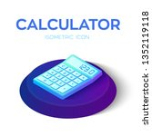 calculator icon. 3d isometric...
