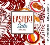 easter sale  print design. | Shutterstock .eps vector #1352120048