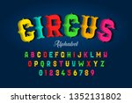 circus style font design ... | Shutterstock .eps vector #1352131802