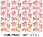 seamless pattern background... | Shutterstock . vector #1352134412