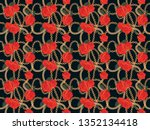 seamless pattern background... | Shutterstock . vector #1352134418
