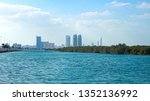 abu dhabi waterside view | Shutterstock . vector #1352136992