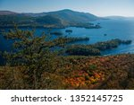 view of lake george in autumn...