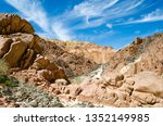 rocks in a canyon in the desert ... | Shutterstock . vector #1352149985